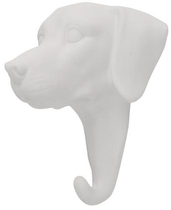Wandhaken Dog aus Porzellan