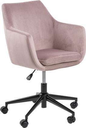 Kancelářská otočná židle ze sametu Nora, výškově nastavitelná