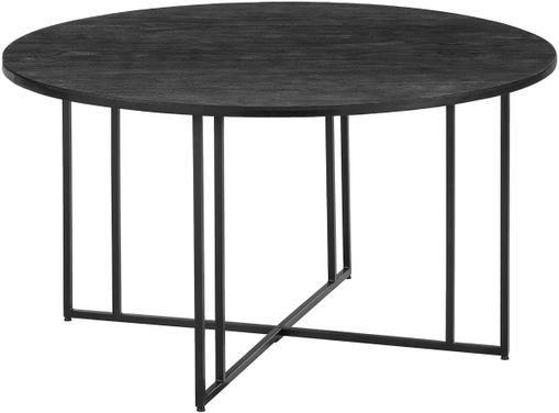 Runder Esstisch mit Massivholzplatte