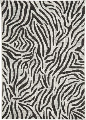 In- & Outdoor-Teppich Exotic mit Zebra Print