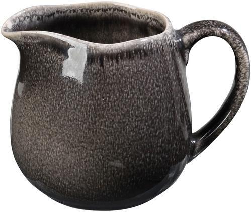 Handgemachtes Milchkännchen Nordic Coal aus Steingut, 300 ml