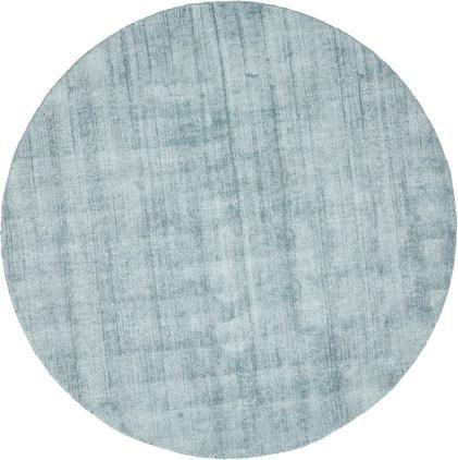 Okrúhly ručne tkaný koberec z viskózy Jane