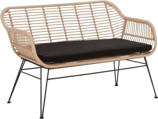 Garten-Sitzbank Costa mit Polyrattan