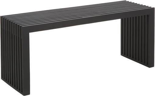 Moderne Mahagoni-Bank Rib in Schwarz