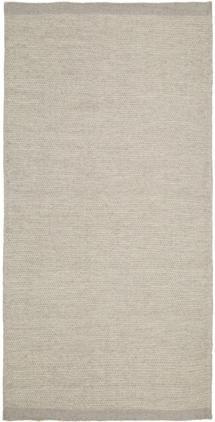 Handgewebter Kelimteppich Delight aus Wolle in Hellgrau