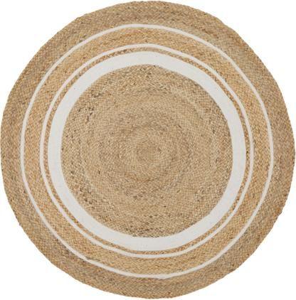 Handgefertigter Jute-Teppich Clover