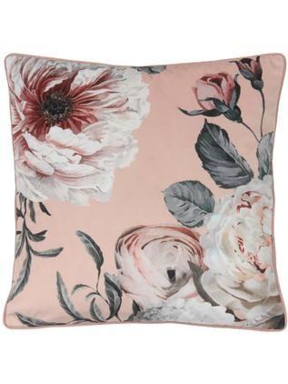 Samt-Kissenhülle Blossom mit Blumen-Print