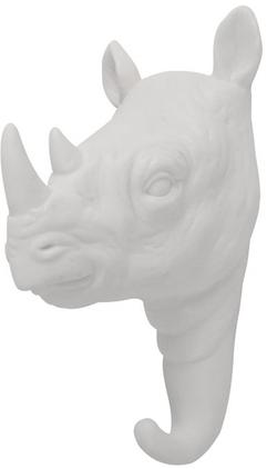 Wandhaken Rhino aus Porzellan