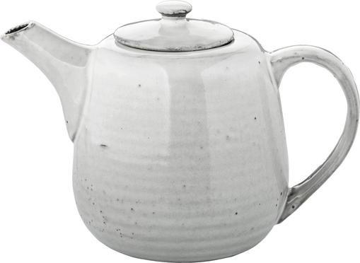 Handgemachte Teekanne Nordic Sand aus Steingut, 1.3 L