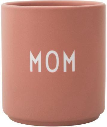 Design Becher Favourite MOM in Terrakotta mit Schriftzug