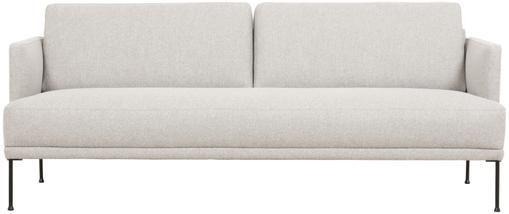 Sofa Fluente (3-Sitzer) in Beige mit Metall-Füßen