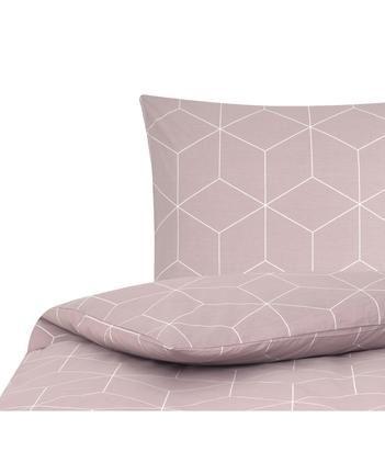 Baumwoll-Bettwäsche Lynn mit grafischem Muster