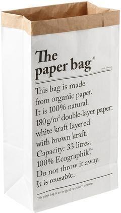 Aufbewahrungstüte Le sac en papier, 33l