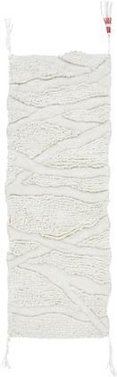 Waschbarer Wollläufer Enkang Ivory mit Hoch-Tief-Struktur und Quasten
