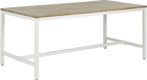 Tavolo con piano in legno massello Raw
