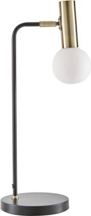 Große Schreibtischlampe Wilson mit Glasschirm