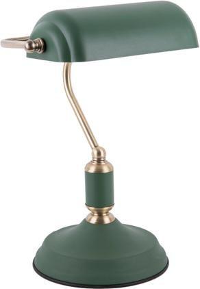 Kleine Retro-Schreibtischlampe Bank aus Metall