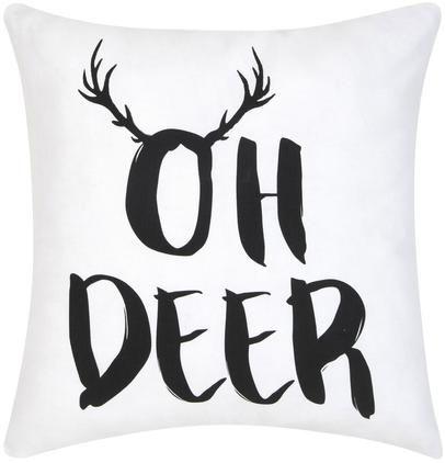 Kissenhülle Oh Deer mit Aufschrift
