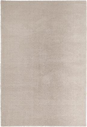 Flauschiger Hochflor-Teppich Leighton in Beige