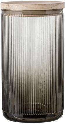 Aufbewahrungsglas Gianna mit Rillenstruktur, Ø 12 x H 22 cm