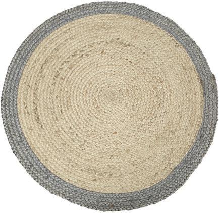Alfombra redonda artesanal de yute Shanta