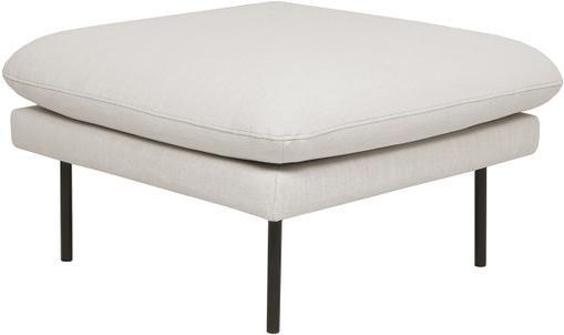 Sofa-Hocker Moby in Beige mit Metall-Füßen