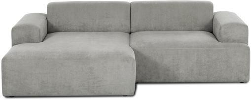 Cord-Ecksofa Melva (3-Sitzer) in Grau