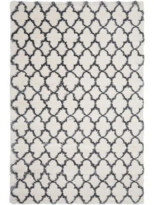 Hochflor-Teppich Mona in Creme/Dunkelgrau