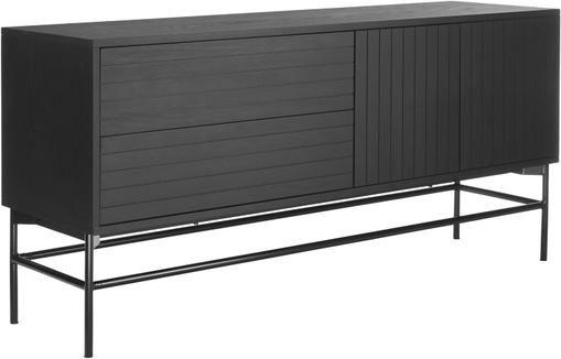 Modernes Sideboard Johan mit Türen in Schwarz
