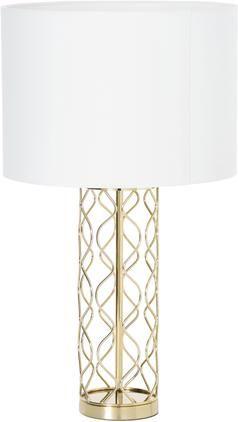 Große Tischlampe Adelaide in Weiß-Gold
