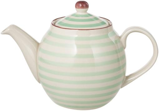 Handbemalte Teekanne Patrizia mit verspieltem Muster, 1.2 L