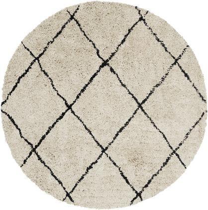 Alfombra redonda artesanal de pelo largo Naima