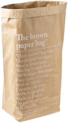 Aufbewahrungstüte Le sac en kraft brun