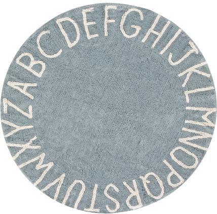 Runder Teppich ABC mit Buchstaben Design, waschbar