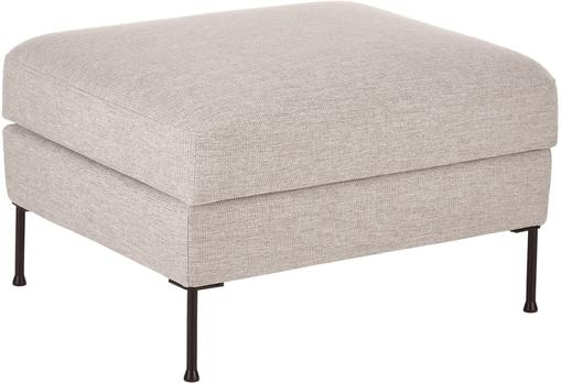 Sofa-Hocker Cucita in Beige mit Stauraum