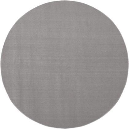 Runder Wollteppich Ida in Grau