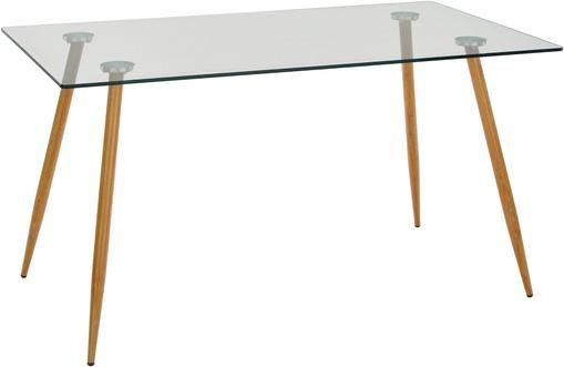 Mesa de comedor Wilma, tablero de cristal