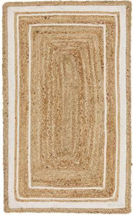 Handgewebter Jute-Teppich Clover