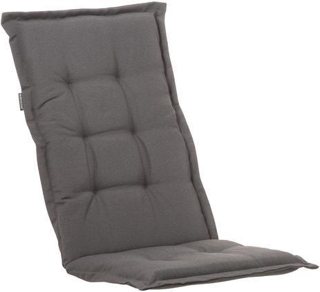 Einfarbige Hochlehner-Stuhlauflage Panama in Anthrazit