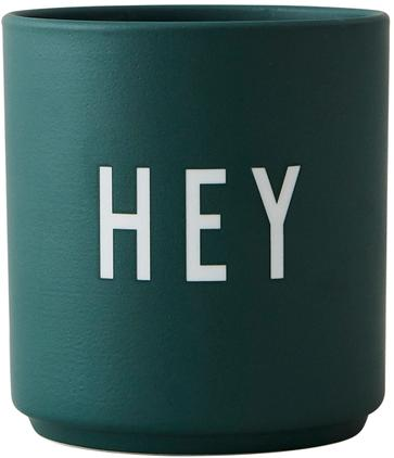 Taza con frase de diseño Favourite HEY