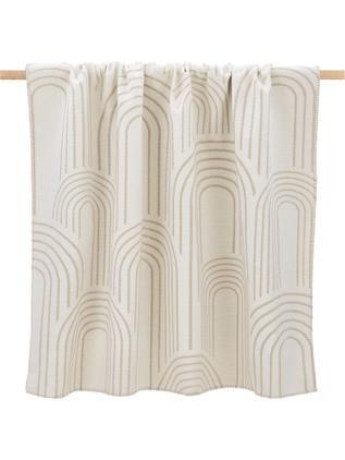 Baumwolldecke Deco mit abstrakten Regenbogenmotiven und unterschiedlicher Vorder/Rückseite