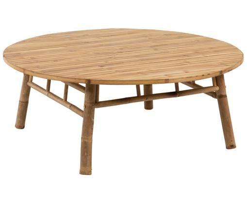 Table basse de jardin ronde en bambou Bindi