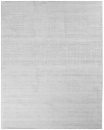 Handgewebter Viskoseteppich Jane in Silbergrau