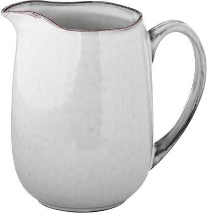 Handgemachter Milchkrug Nordic Sand aus Steingut, 1 L