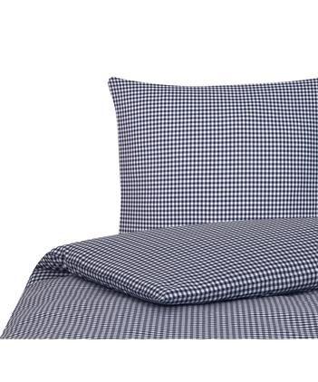 Karierte Baumwoll-Bettwäsche Scotty in Blau/Weiß