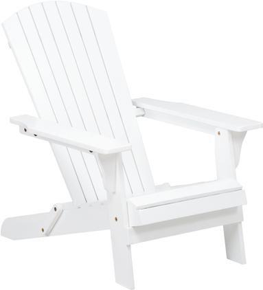 Garten-Loungestuhl Charlie aus Akazienholz in Weiß