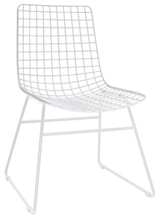 Kovová stolička Wire