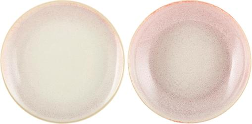 Handgemachte Speiseteller Amalia mit effektvoller Glasur, 2 Stück