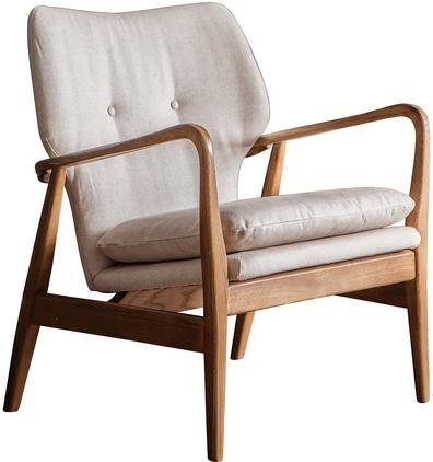 Loungesessel Jomlin aus Eichenholz