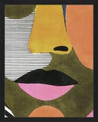 Gerahmter Digitaldruck Close Up Face